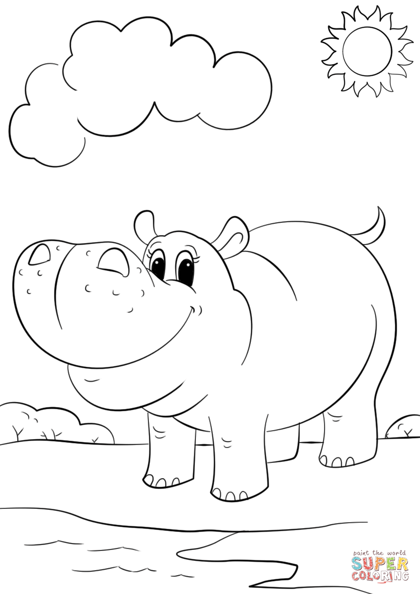 hippopotamus coloring pages hippo coloring pages download coloring pages hippopotamus