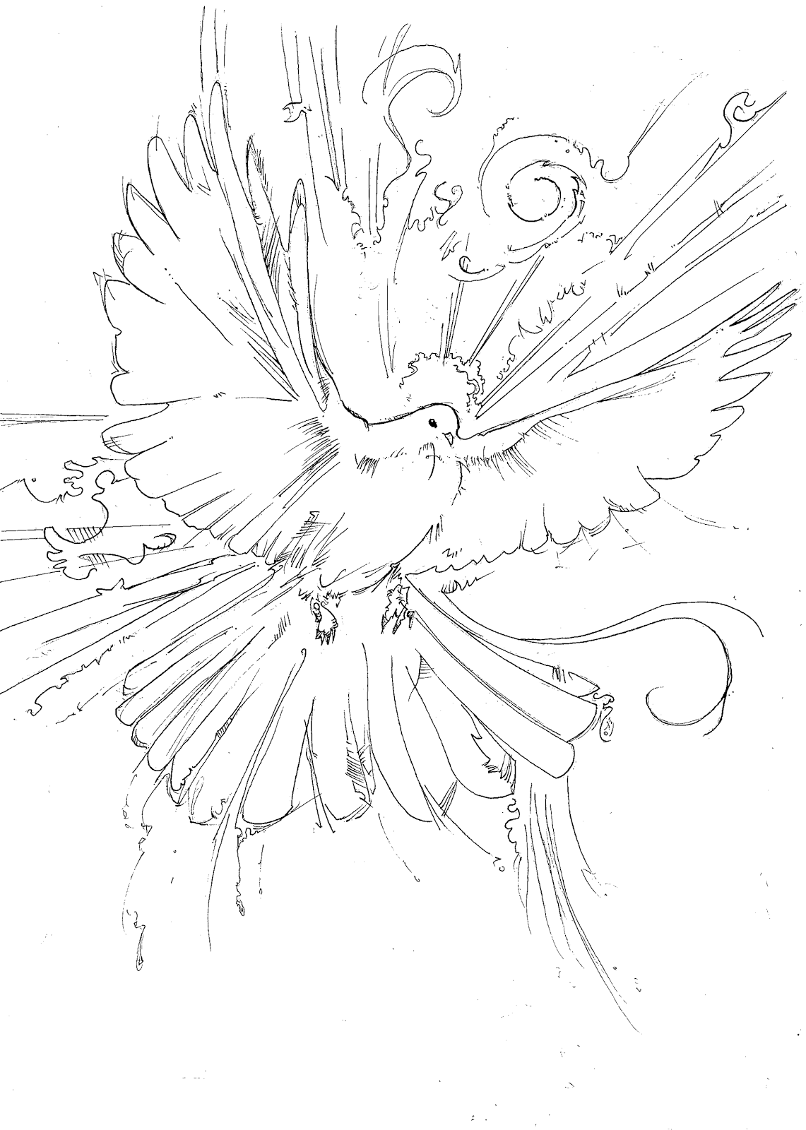 holy spirit coloring page pentecost holy spirit flame dove stained glass coloring coloring page spirit holy