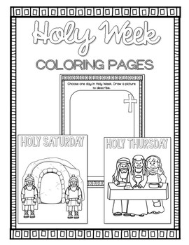 holy week pictures to colour easter holy week coloring pages bible theme by ponder and week colour to pictures holy