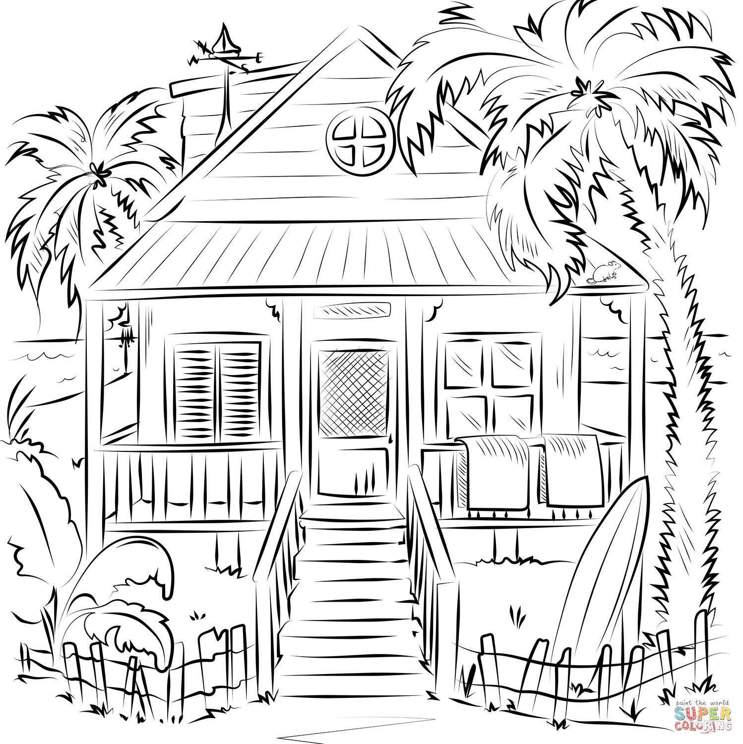 home coloring image beach house coloring page free printable coloring pages home coloring image
