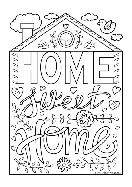 home coloring image home coloring page a free english coloring printable image home coloring