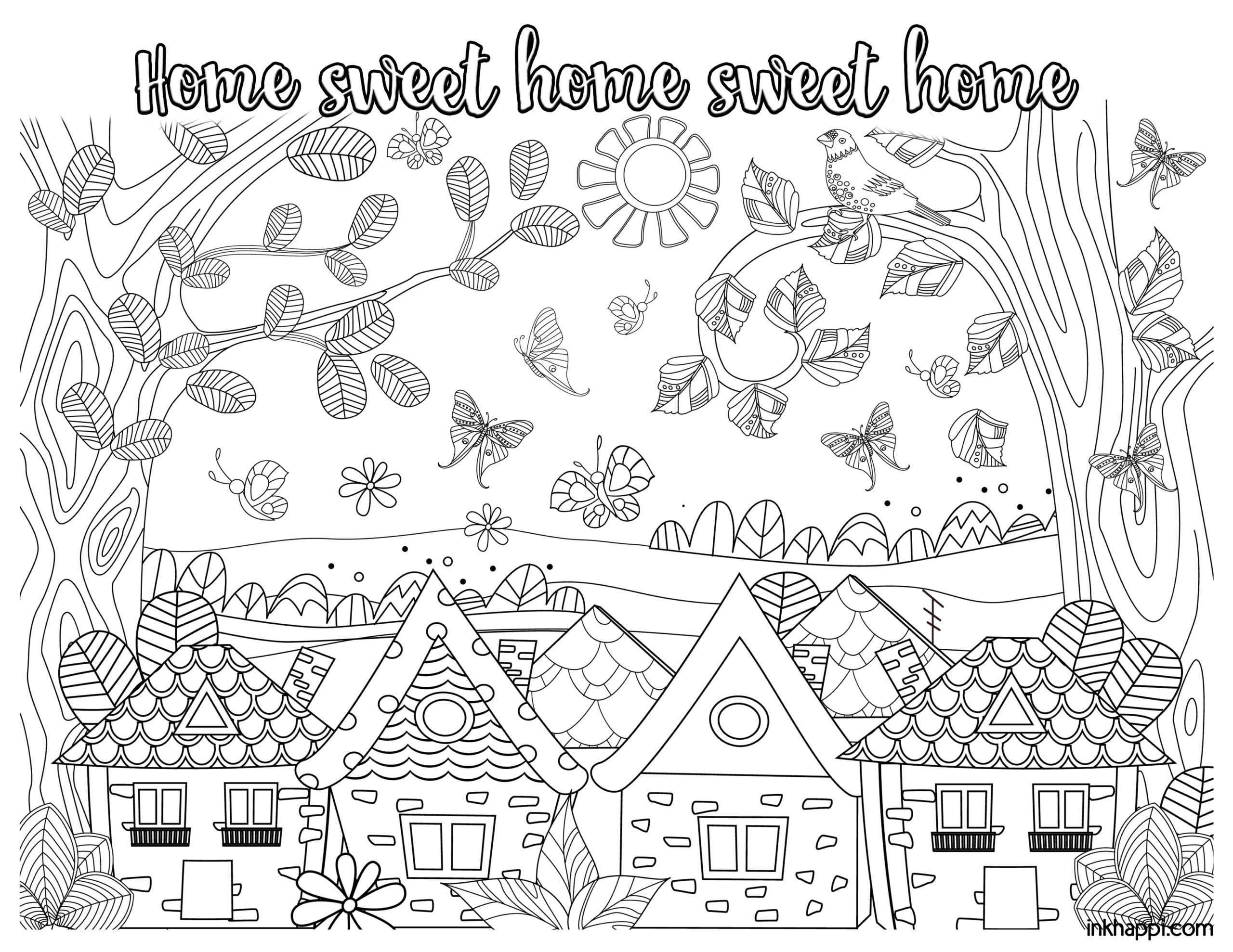 home coloring image house coloring pages country houses home coloring image