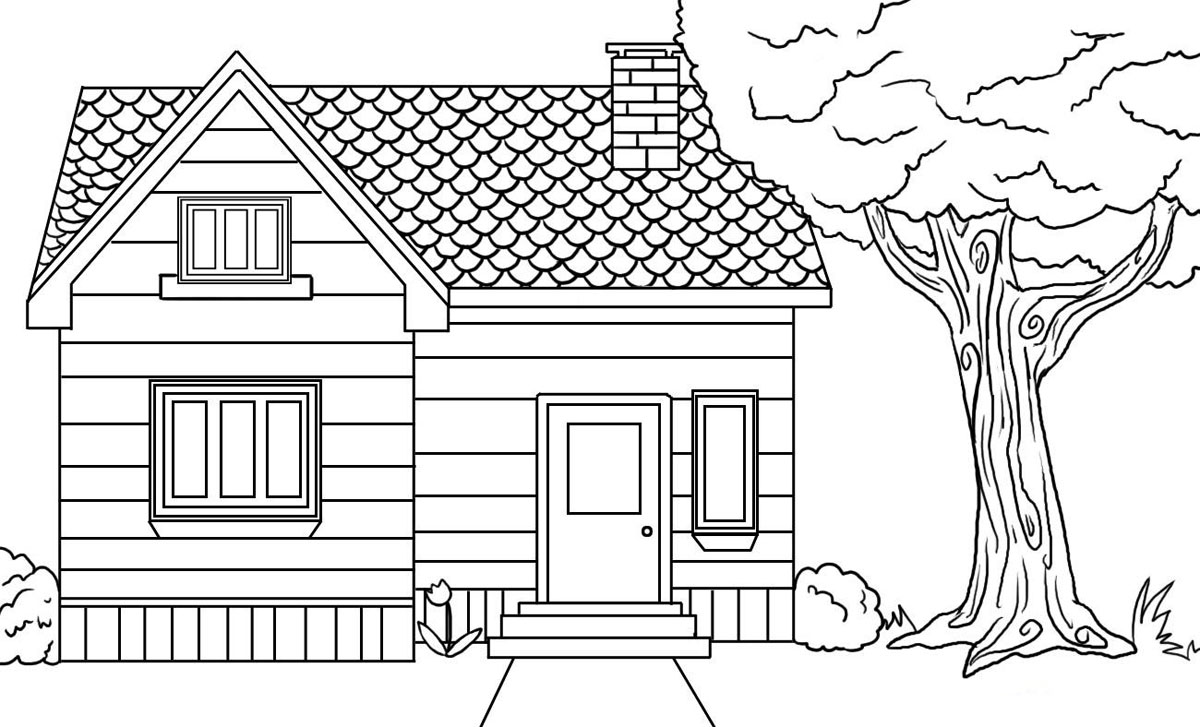home coloring image house coloring pages the sun flower pages home image coloring