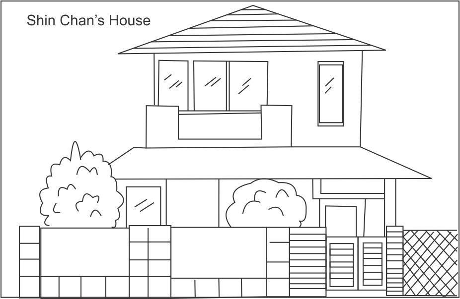 home coloring image little house line art free clip art image home coloring