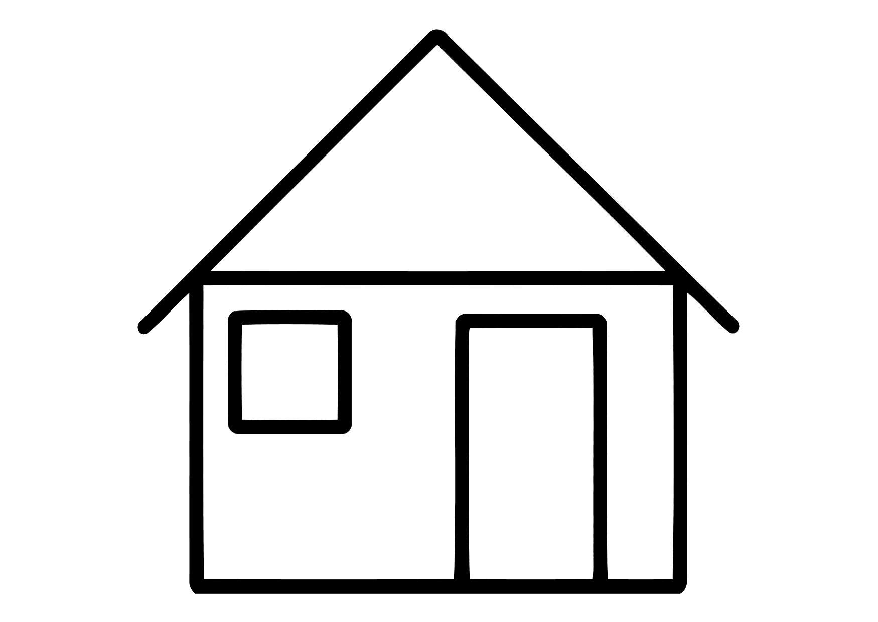 home coloring image sunny day house coloring page free clip art coloring image home
