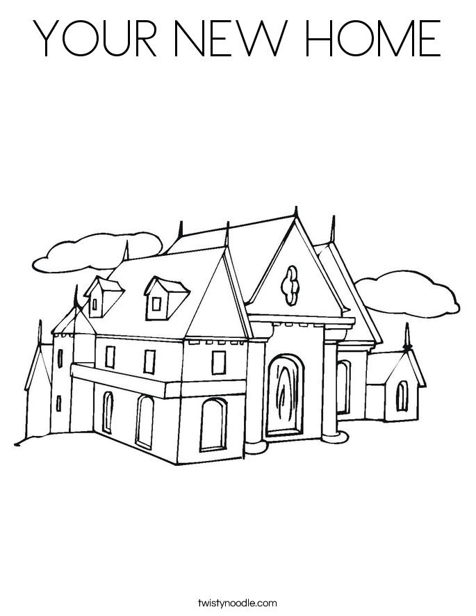 home coloring image your new home coloring page twisty noodle coloring image home