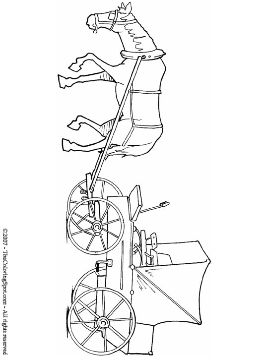 horse and buggy coloring pages horse and buggy coloring pages at getcoloringscom free and coloring horse pages buggy