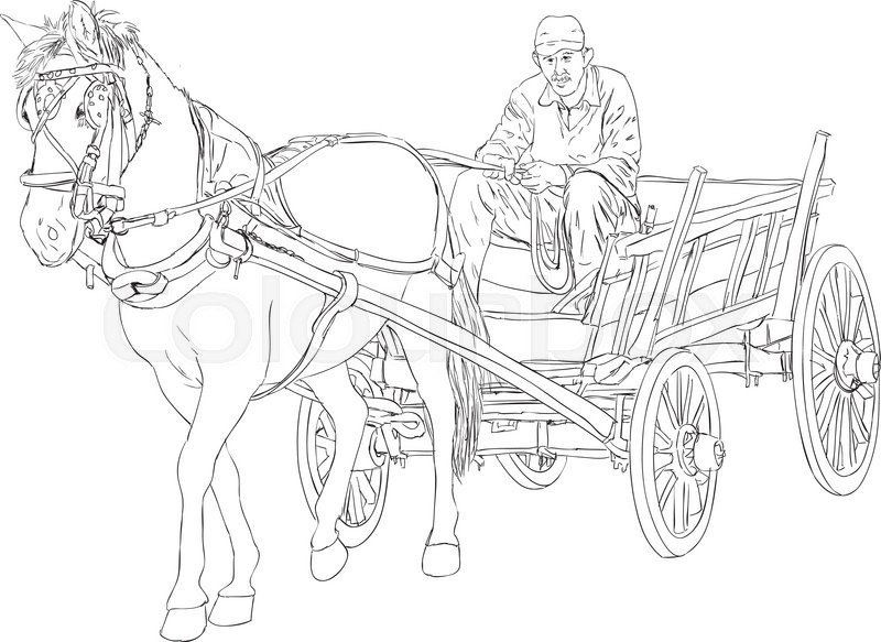 horse and buggy coloring pages horse and buggy coloring pages at getcoloringscom free and horse coloring pages buggy