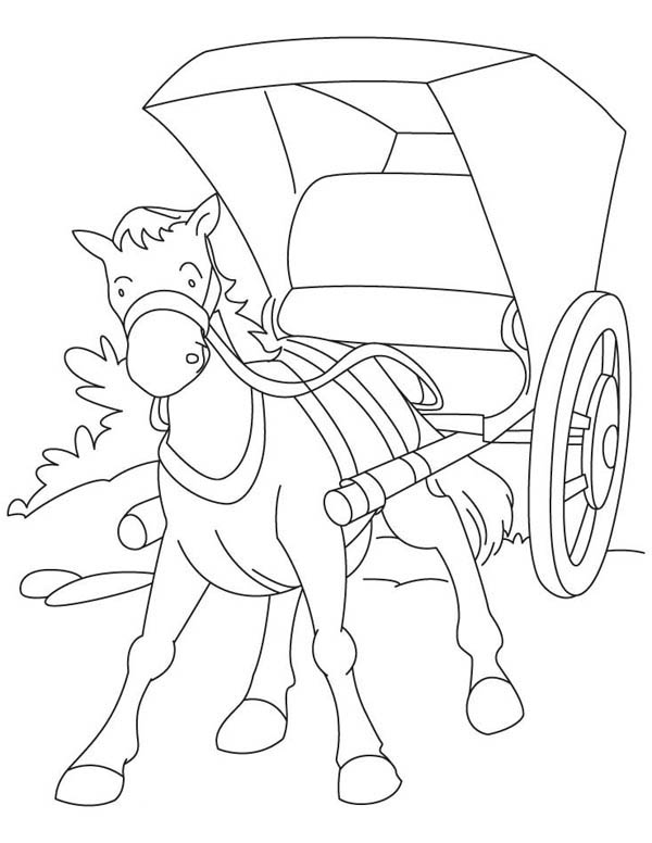 horse and carriage coloring pages cinderella carriage coloring pages coloring home pages and carriage horse coloring