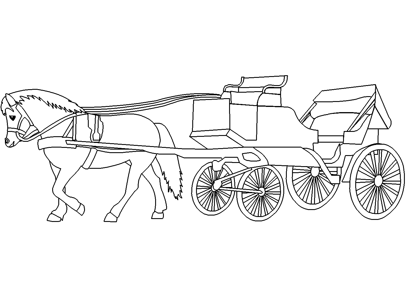 horse and carriage coloring pages horse and carriage coloring pages free coloringpages2019 carriage horse coloring and pages