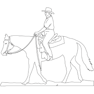 horse and rider coloring pages coloring page of western horse and rider horse coloring pages horse and rider coloring