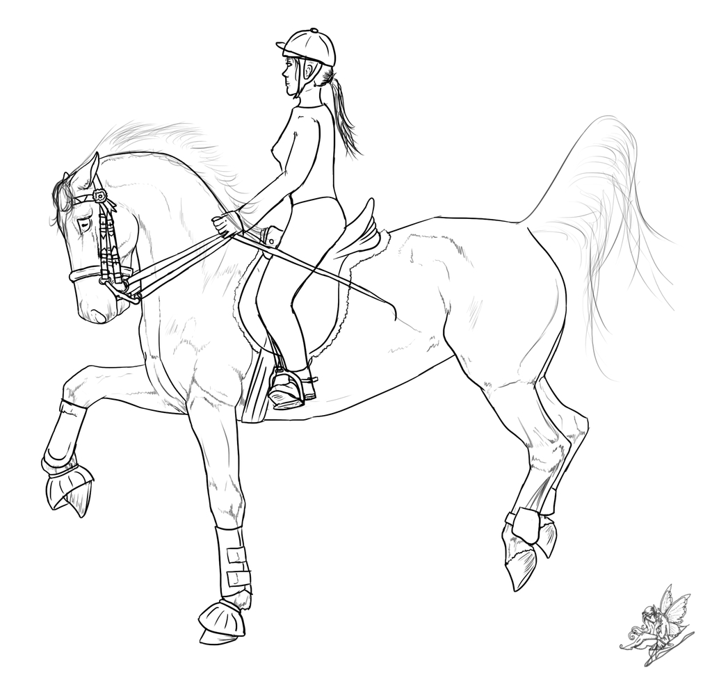 horse and rider coloring pages horse and rider drawing at getdrawings free download and horse coloring pages rider