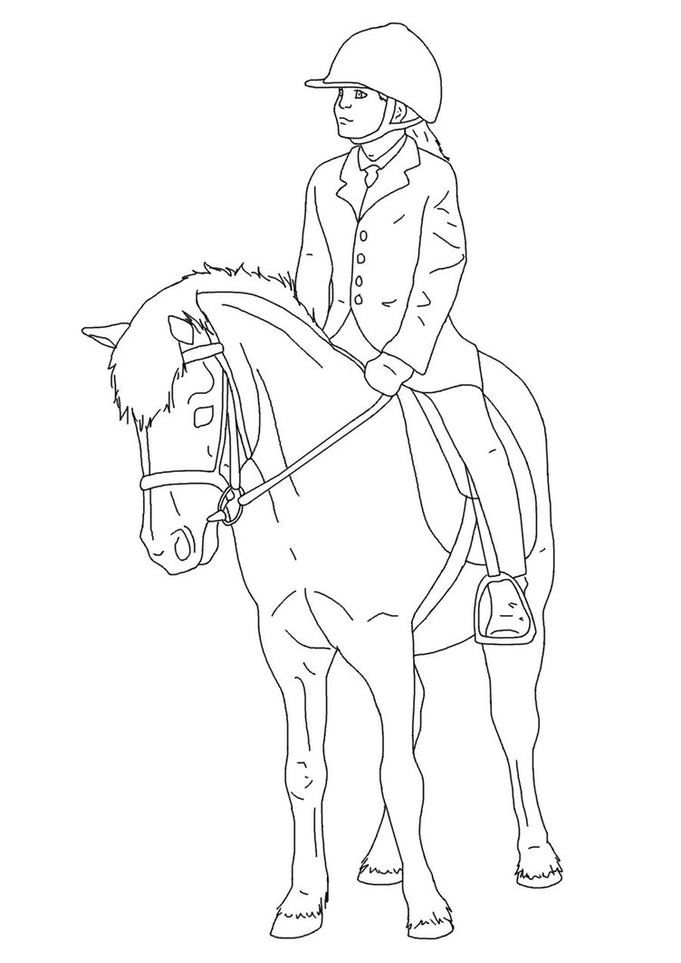 horse and rider coloring pages horse and rider drawing at getdrawings free download coloring rider pages and horse