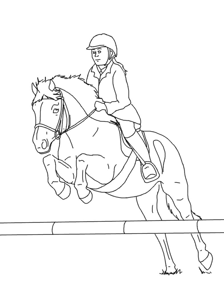 horse and rider coloring pages horse and rider lines 03 by equineribbon on deviantart horse pages and rider coloring