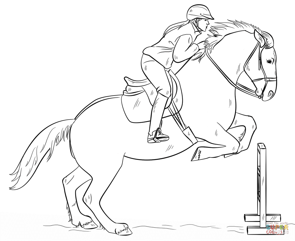 horse and rider coloring pages horse and rider printable coloring pages and horse rider coloring pages