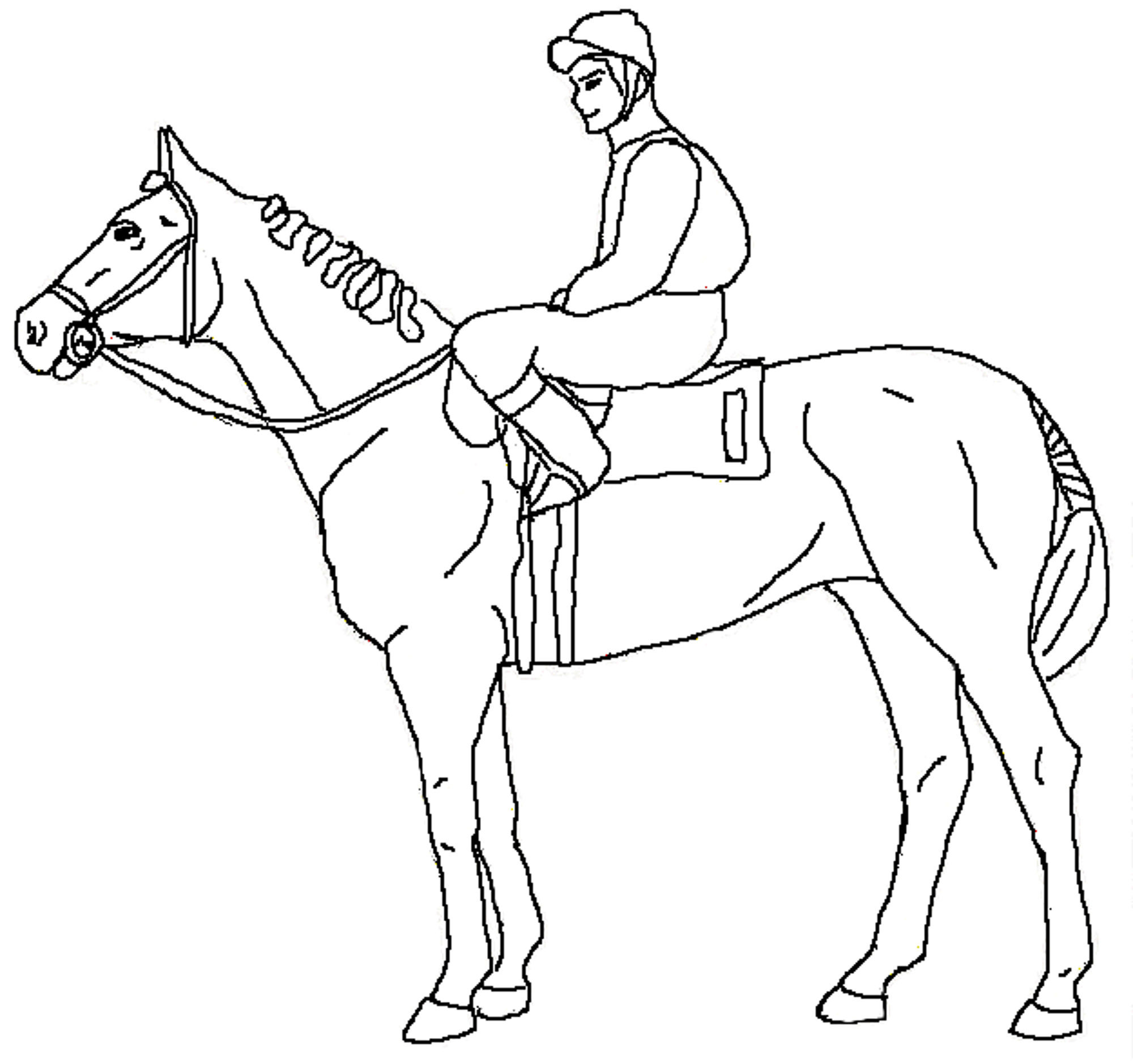 horse and rider coloring pages posture in riders and coloring horse rider pages