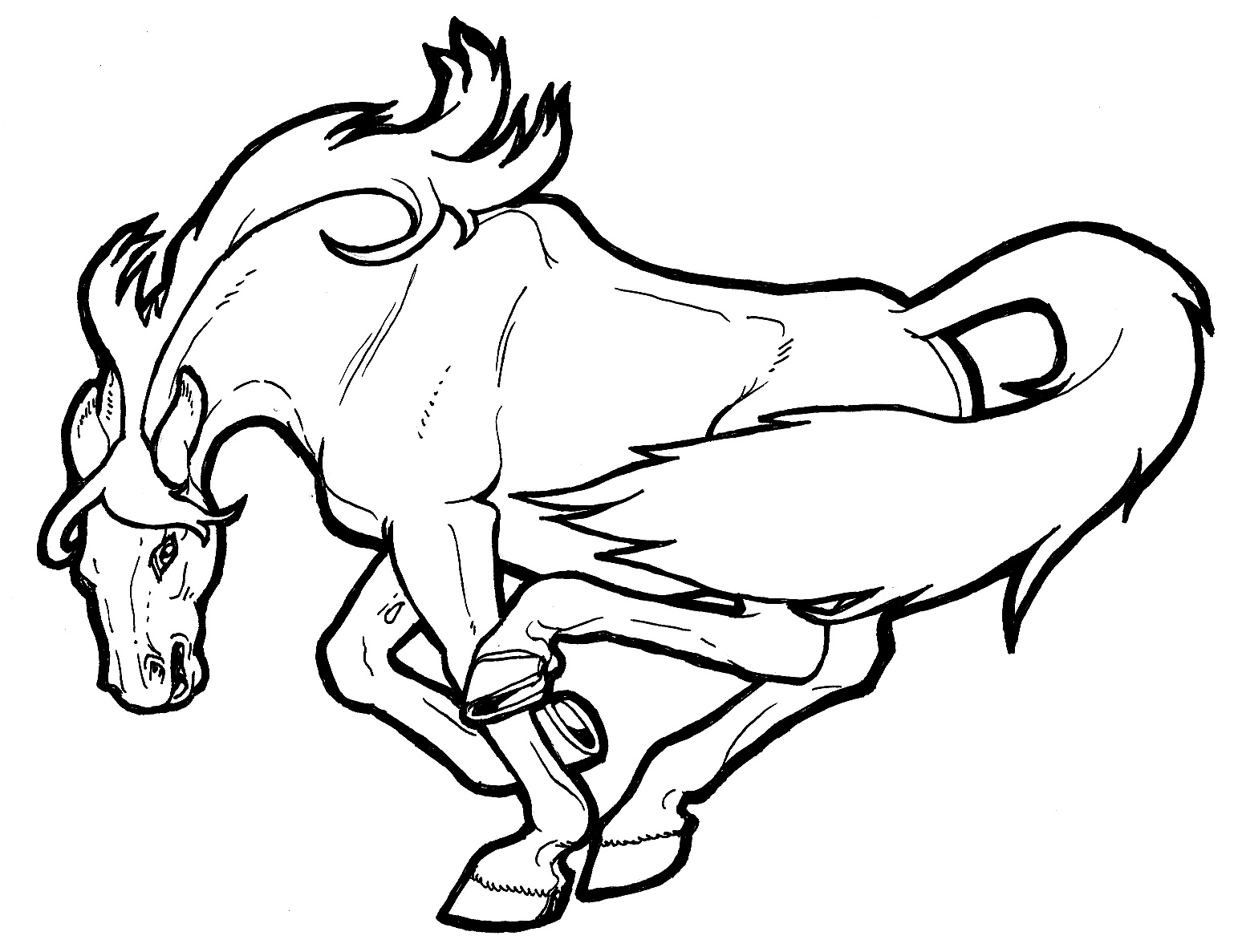 horse coloring sheets realistic horse coloring pages to download and print for free sheets coloring horse 1 1