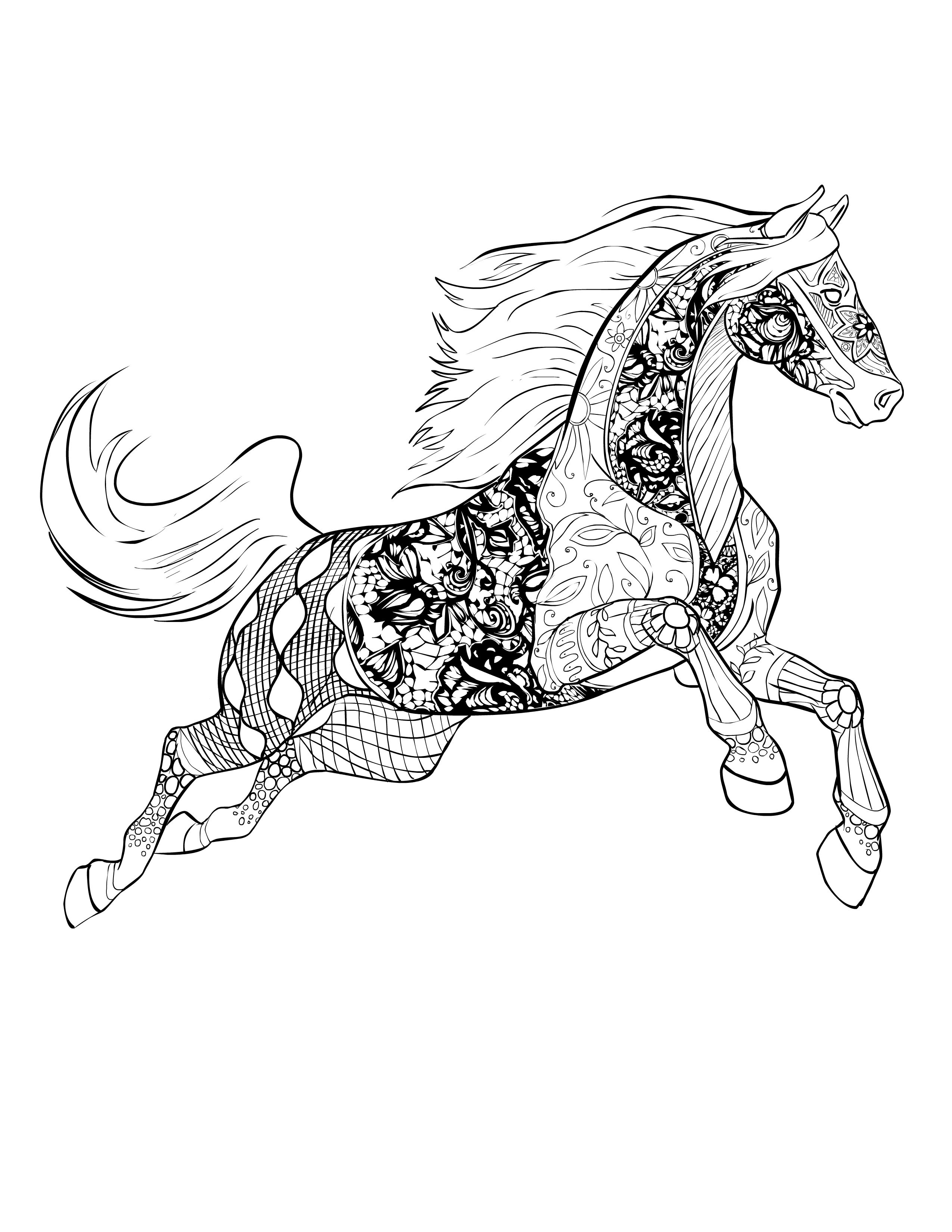 horse zentangle coloring pages dream horse a zentangled fantasy animal drawings horse coloring horse zentangle pages