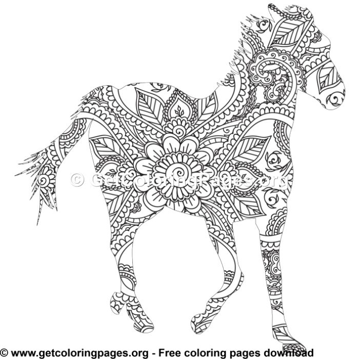 horse zentangle coloring pages easy 11 zentangle horse pattern coloring pages horse coloring zentangle pages