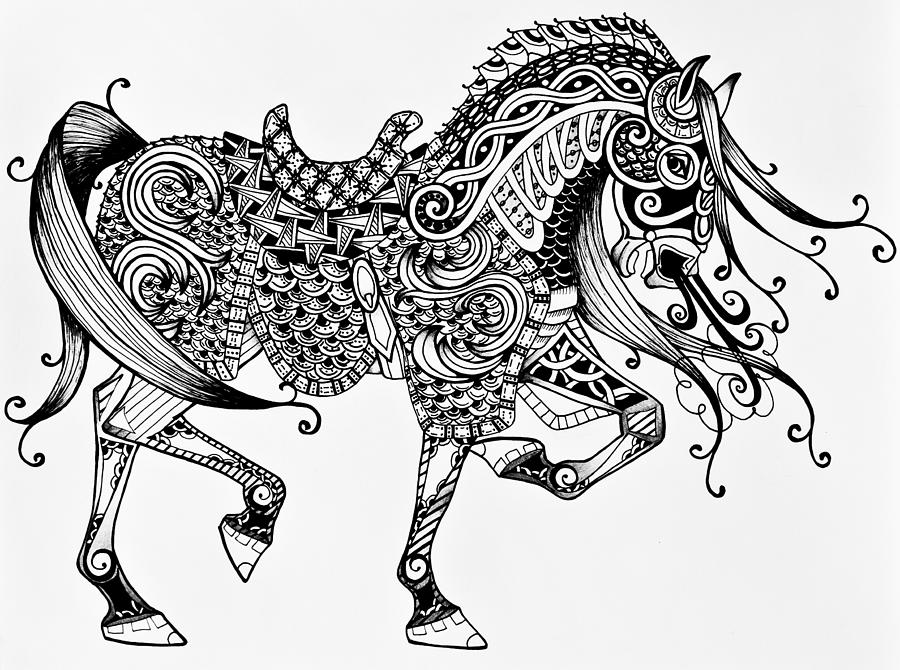 horse zentangle coloring pages easy 14 zentangle horse pattern coloring pages horse zentangle coloring pages