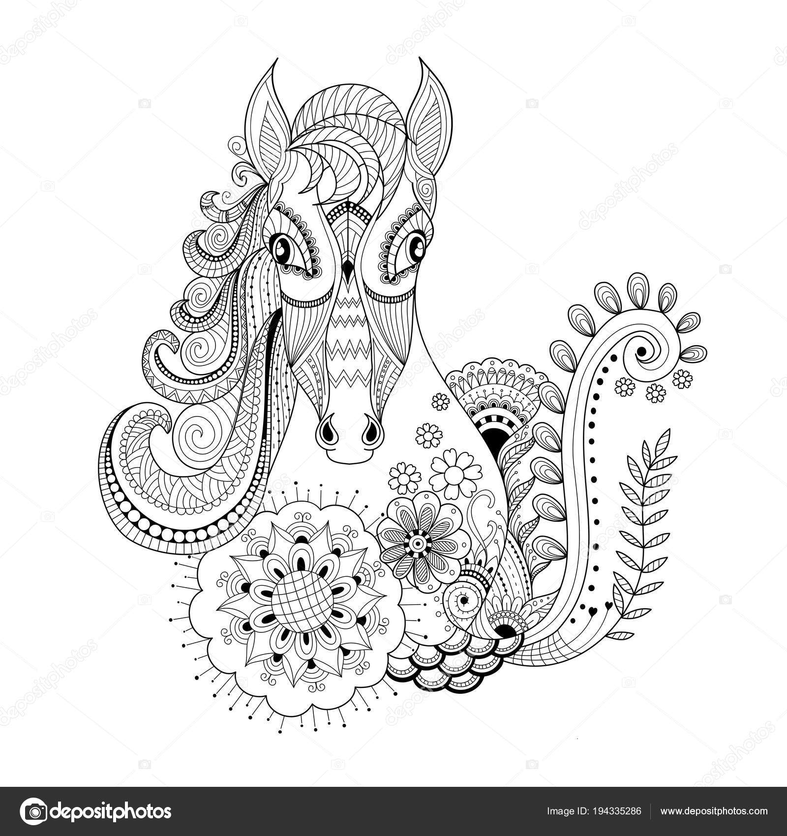 horse zentangle coloring pages easy 32 zentangle horse pattern coloring pages zentangle coloring pages horse