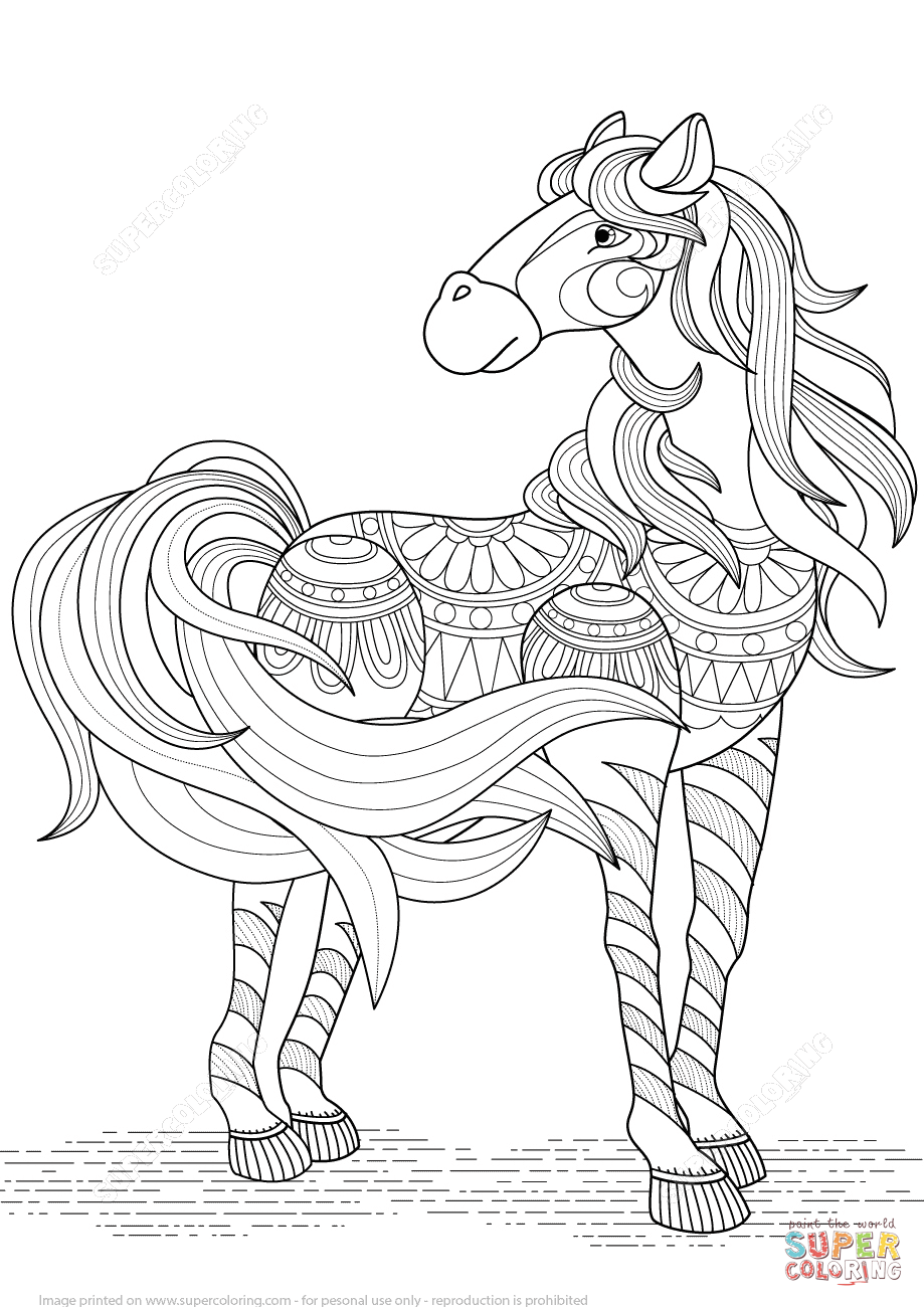 horse zentangle coloring pages horse adult coloring page gift wall art mandala zentangle pages coloring horse zentangle