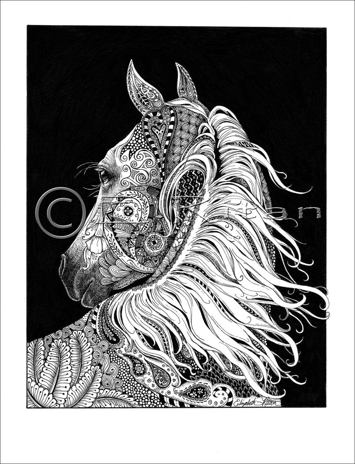 horse zentangle coloring pages horse floral zentangle adult coloring book page vector pages horse zentangle coloring