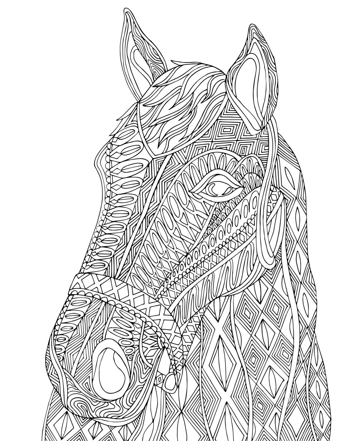 horse zentangle coloring pages horse head zentangle adult coloring page zentangle pages coloring horse