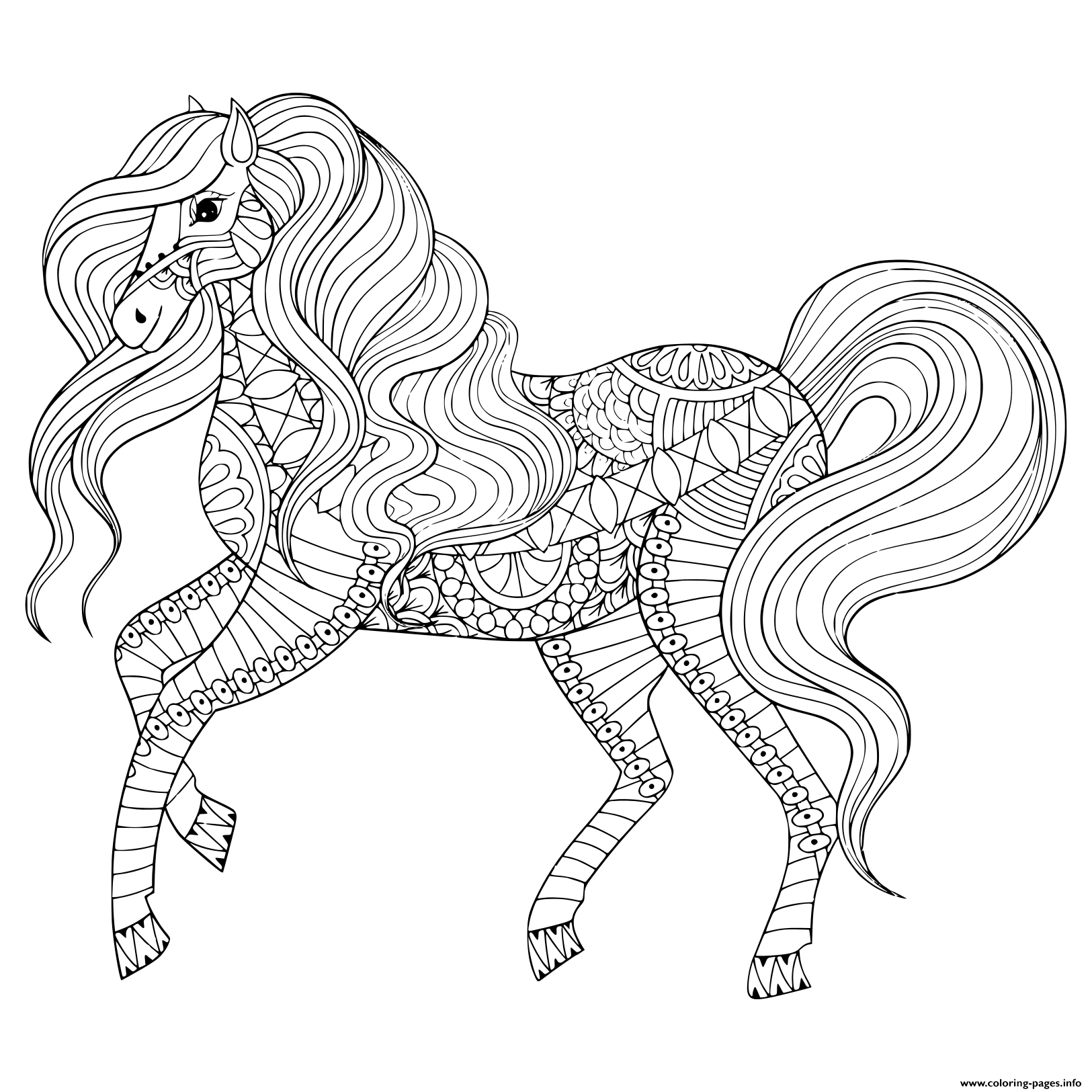 horse zentangle coloring pages horse pdf zentangle coloring page therapy coloring coloring pages horse zentangle