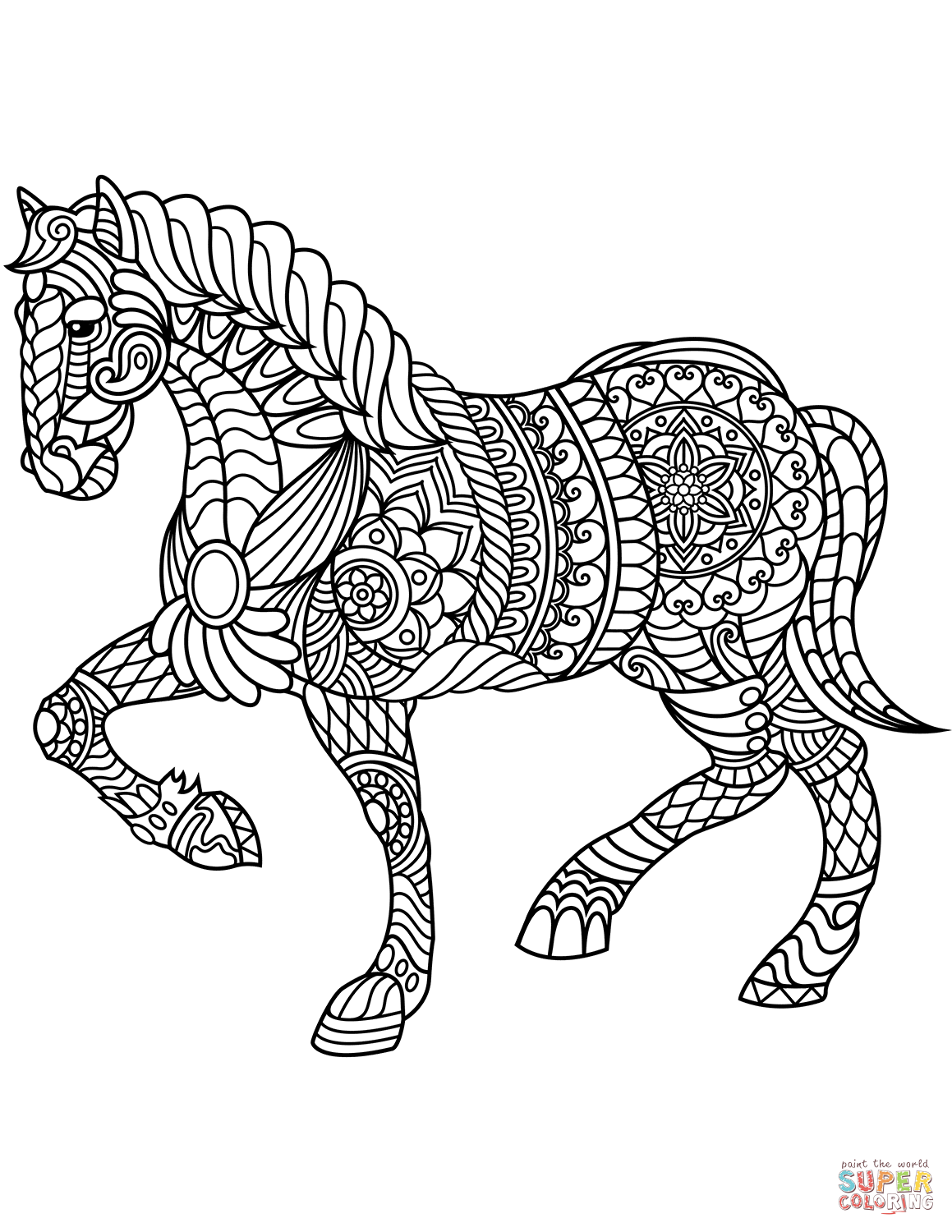 horse zentangle coloring pages horse simple zentangle patterns horses adult coloring pages pages zentangle coloring horse