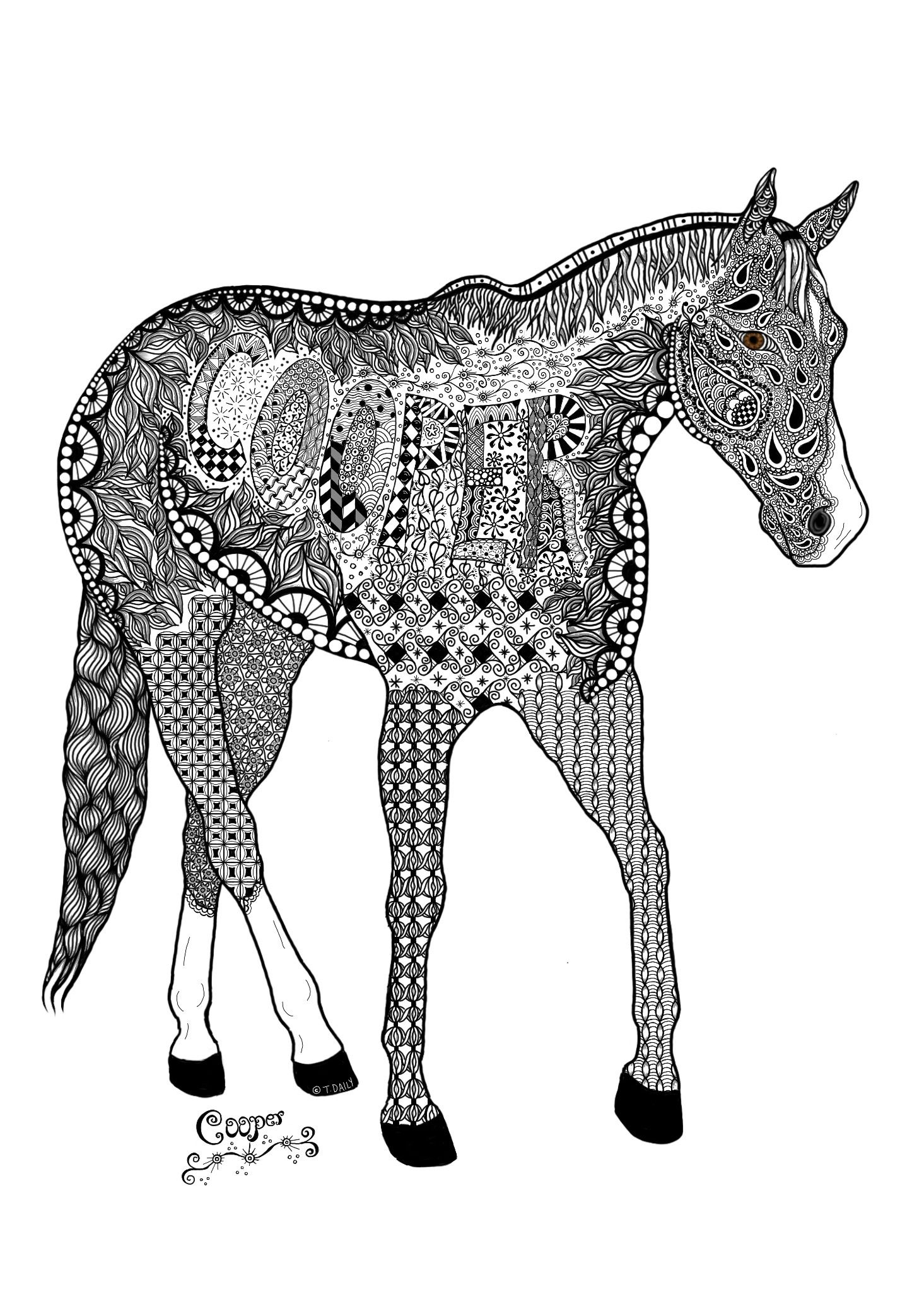 horse zentangle coloring pages horse zentangle pages coloring zentangle horse