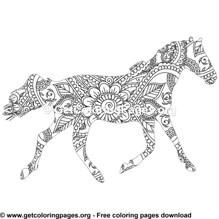 horse zentangle coloring pages sea horse zentangle adults coloring pages printable horse coloring pages zentangle