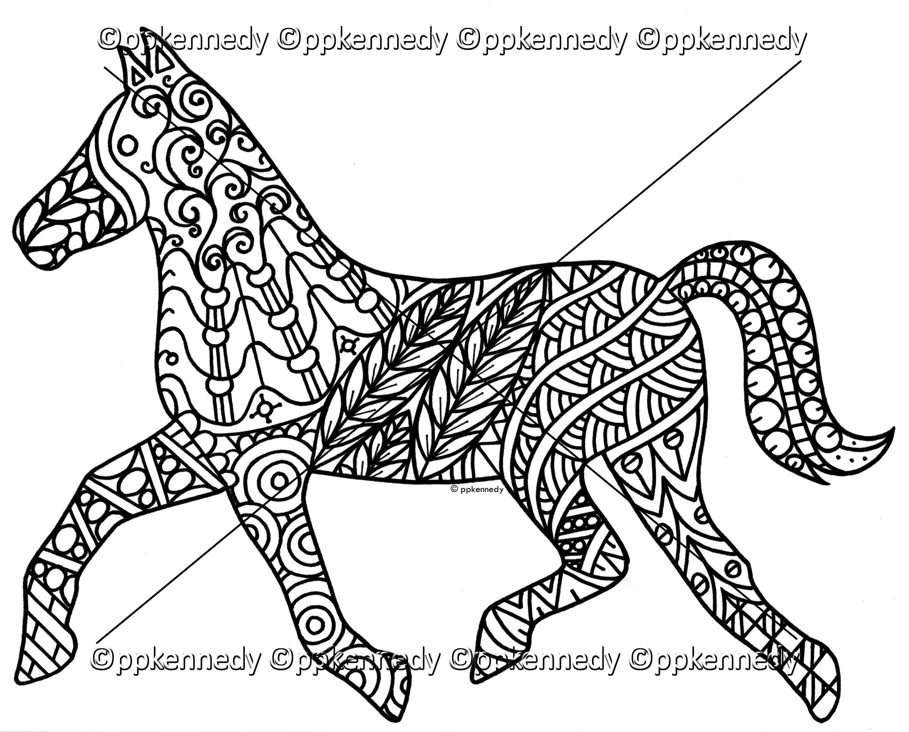 horse zentangle coloring pages war horse zentangle drawing by jani freimann zentangle horse pages coloring