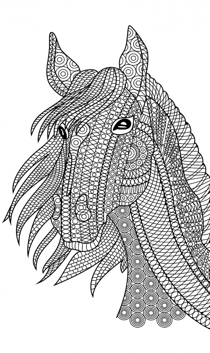 horse zentangle coloring pages zentangle horse by nikoline sander coloriage cheval coloring pages zentangle horse
