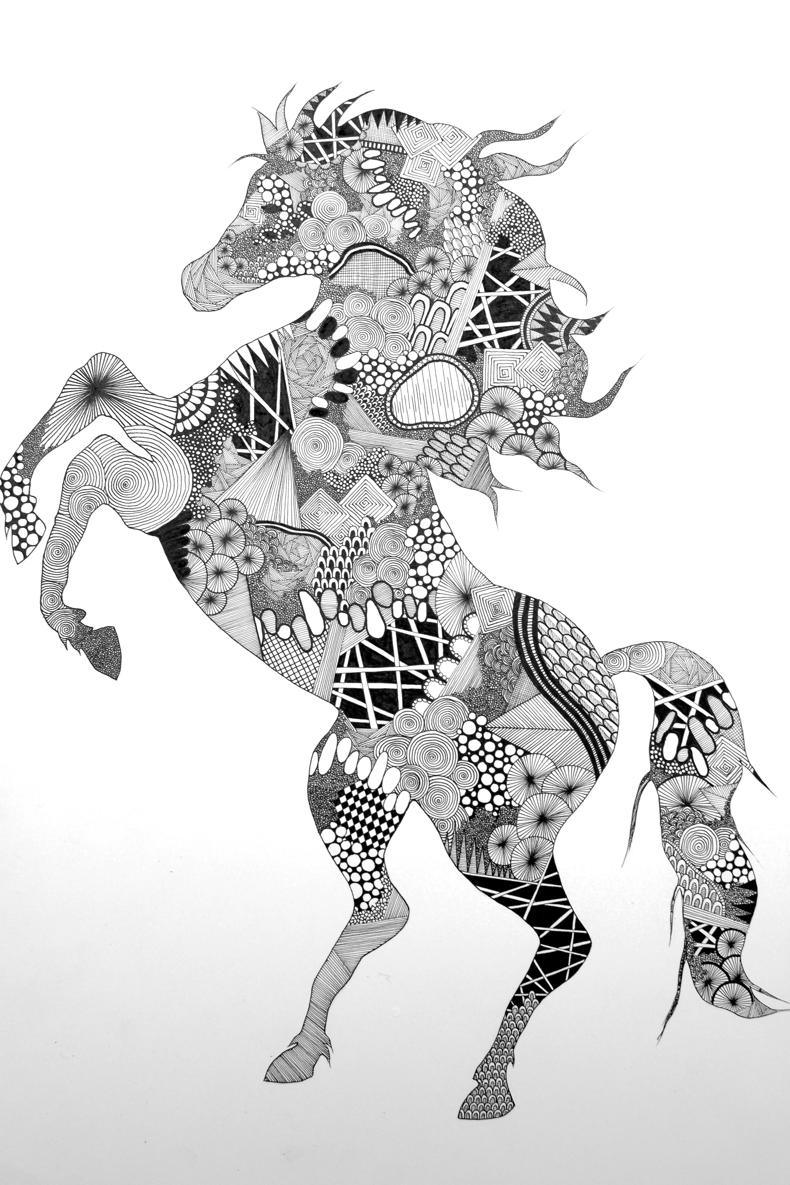 horse zentangle coloring pages zentangle horse coloring pages at getdrawings free download pages horse coloring zentangle