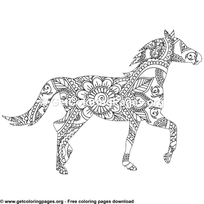 horse zentangle coloring pages zentangle horse sketch coloring page zentangle coloring pages horse 1 1