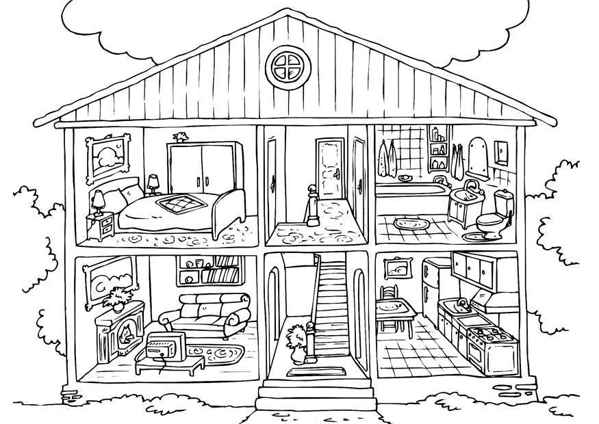 house coloring pictures free printable house coloring pages for kids coloring house pictures