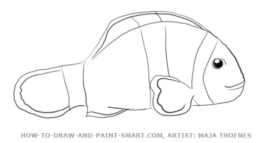 how do you draw a clown fish clownfish drawing at getdrawings free download fish how clown do draw a you