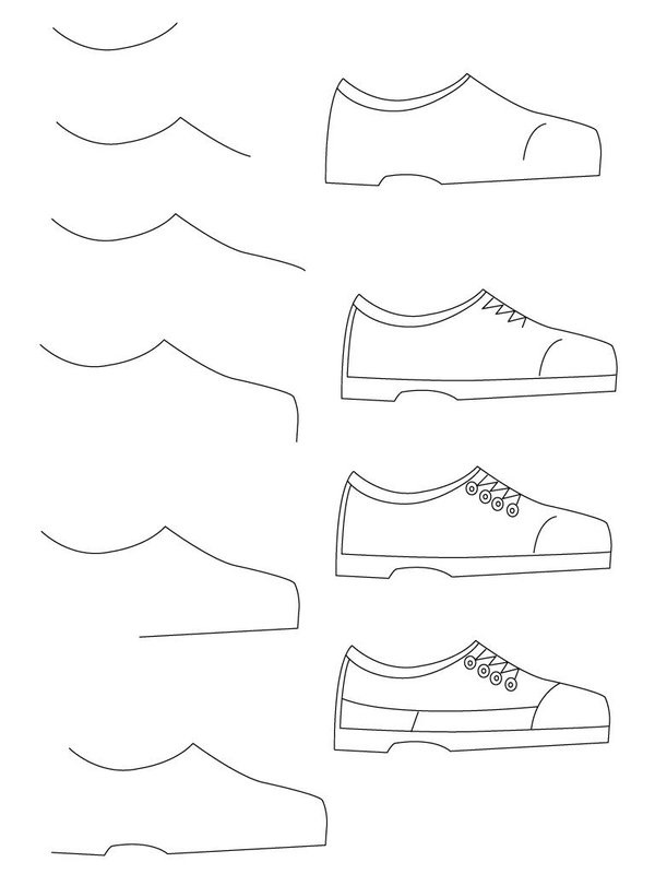 how do you draw a shoe how to draw anime shoes step by step animeoutline how do shoe draw you a