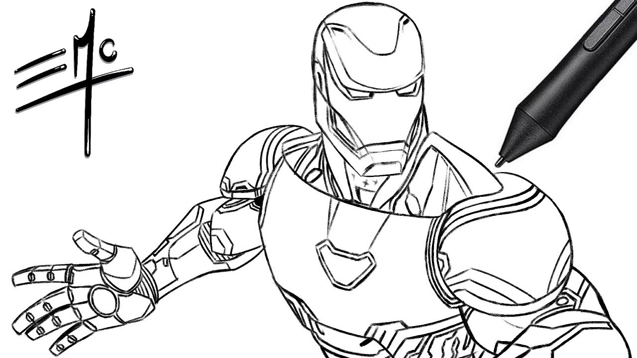 how draw iron man easy iron man drawing at getdrawings free download man how iron draw