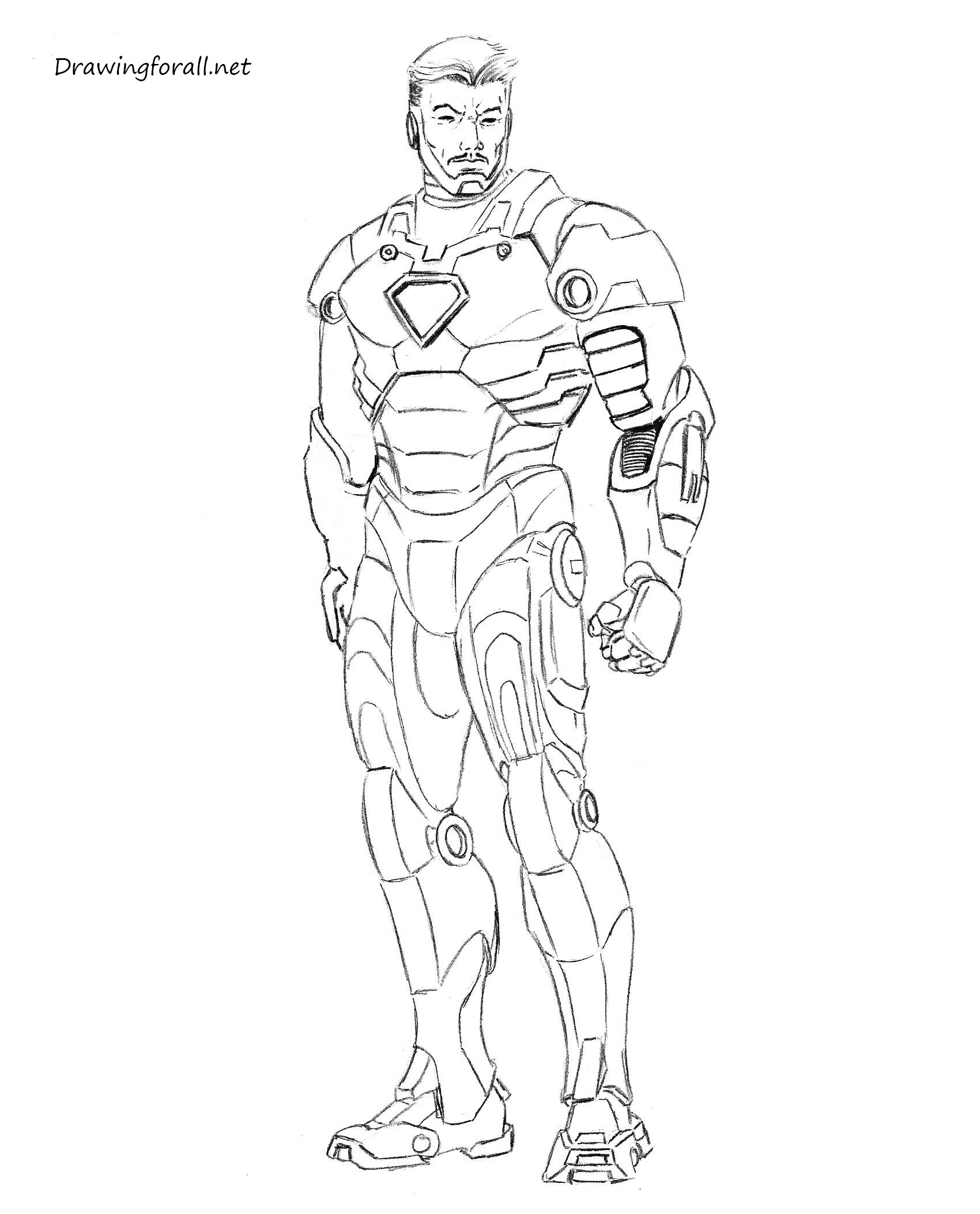 how draw iron man how to draw iron man mk 2 drawing superheroes avengers draw man how iron