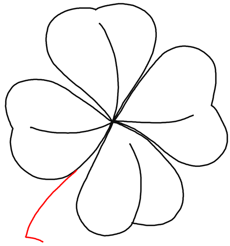 how to draw a 4 leaf clover a charcoal drawing of four leaf clover coloring page to clover a 4 leaf draw how