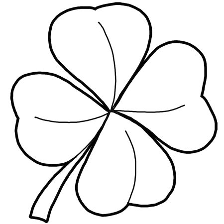 how to draw a 4 leaf clover four leaf clover drawing at getdrawings free download how draw 4 clover leaf a to