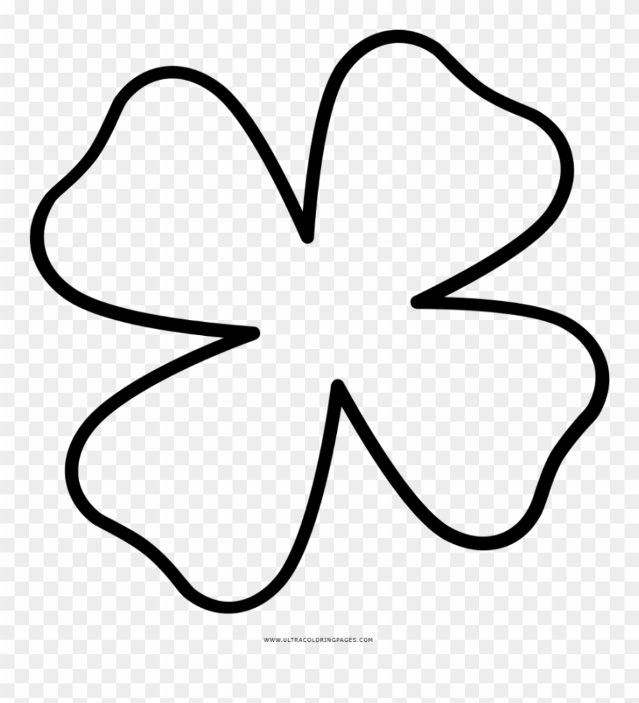 how to draw a 4 leaf clover four leaf clover drawing clipart best clover to 4 a leaf draw how