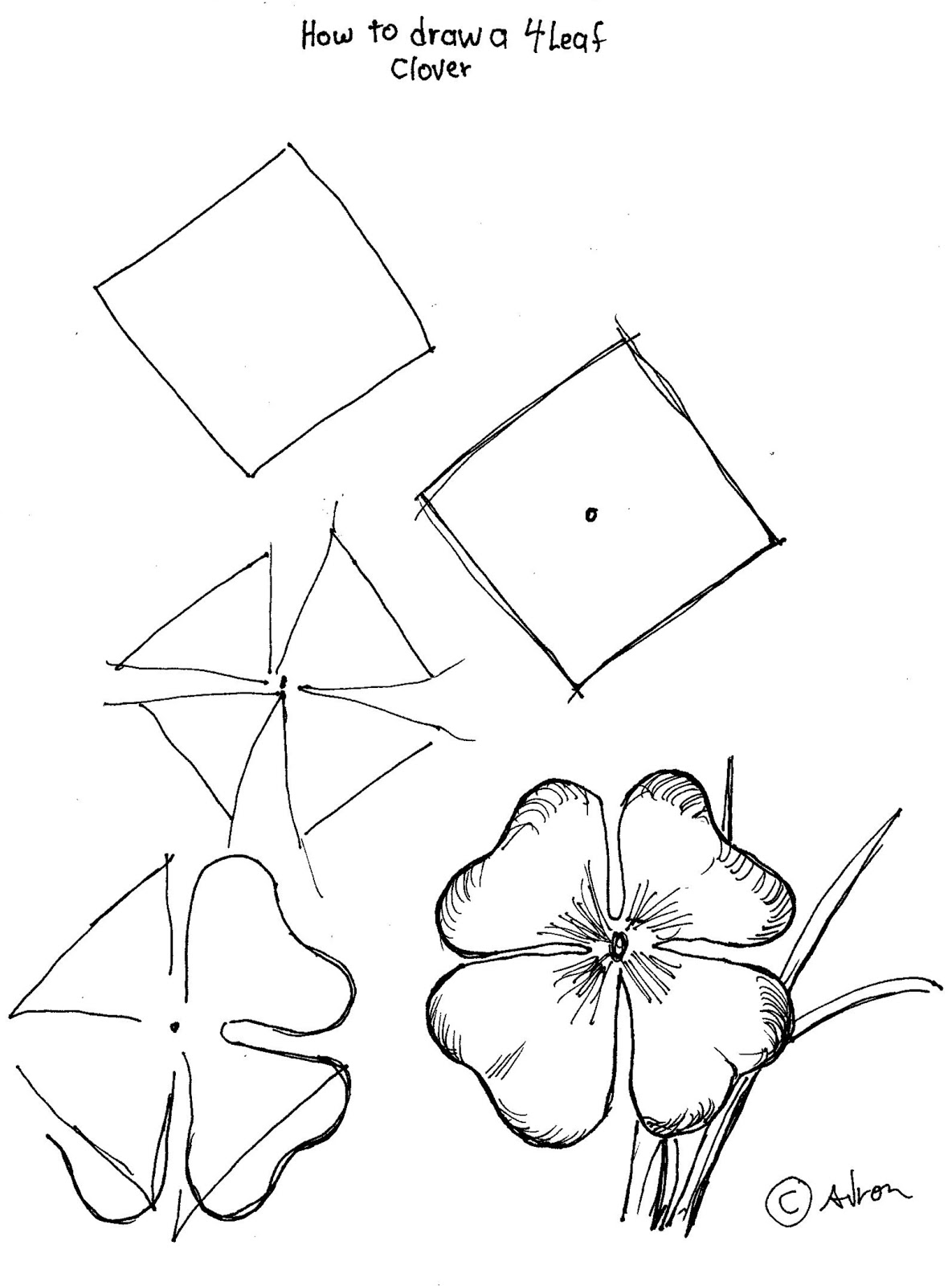 how to draw a 4 leaf clover how to draw 4 leaf clovers shamrocks for st patricks day 4 clover leaf a how draw to
