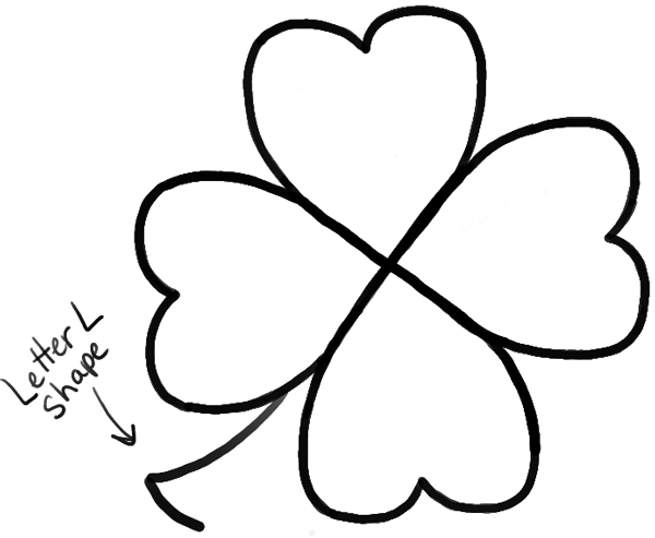 how to draw a 4 leaf clover how to draw 4 leaf clovers shamrocks for st patricks day a leaf how 4 draw clover to
