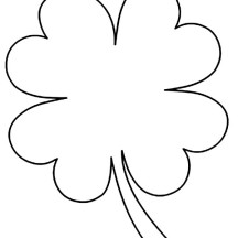how to draw a 4 leaf clover kids drawing of four leaf clover coloring page netart in to 4 how clover leaf draw a
