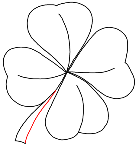 how to draw a 4 leaf clover simple drawing of four leaf clover coloring page netart draw clover 4 to a how leaf