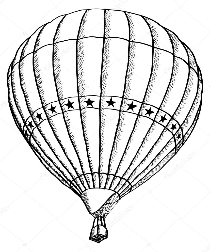 how to draw a air balloon balloon line drawing at getdrawings free download how a balloon air draw to