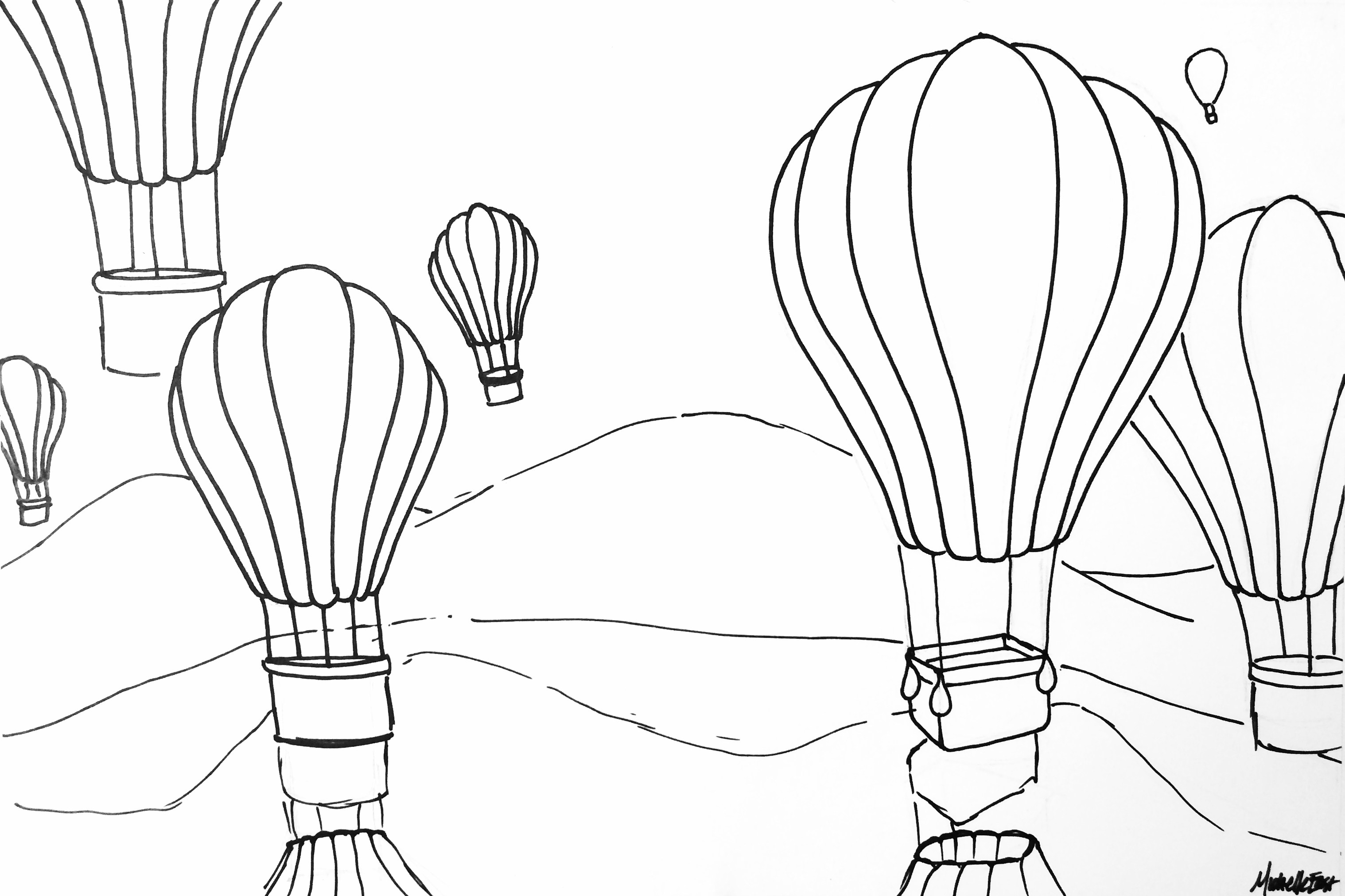 how to draw a air balloon hot air balloon coloring pages clipart panda free a draw how to air balloon